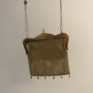 Vintage Bags - Antique Gold Bag with gems circa 1930s